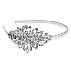 Red Herring - Silver crystal burst headband