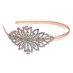 Red Herring - Rose gold crystal burst headband