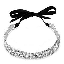 Red Herring - Diamante wave hair ribbon