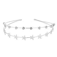 Red Herring - Double row crystal star headband