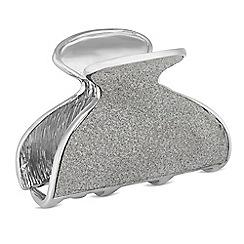 Red Herring - Silver glitter hair clamp