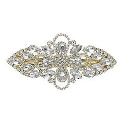 Red Herring - Crystal floral hair clip