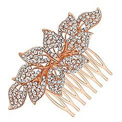Red Herring - Crystal leaf hair comb