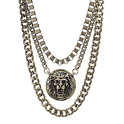 Red Herring - Online exclusive lion head and chunky chain necklace