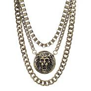 Online exclusive lion head and chunky chain necklace