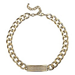 Red Herring - Online exclusive chunky double gold chain necklace