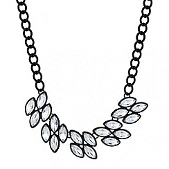 Red Herring - Jet surround navette cluster necklace
