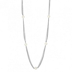 Red Herring - Pearl station chain rope necklace