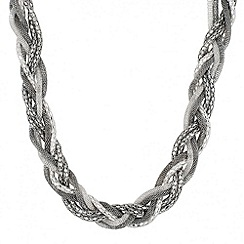Red Herring - Plaited mesh necklace