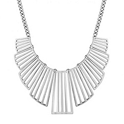 Red Herring - Cut out fan statement necklace