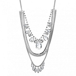Red Herring - Web exclusive chain and crystal multi row necklace