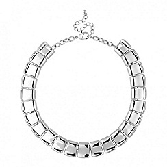 Red Herring - Polished scale collar necklace