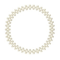 Red Herring - Pearl triple row stretch collar necklace