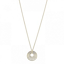 Red Herring - Long multi circular hoop pendant necklace