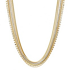 Red Herring - Triple tone multi chain necklace