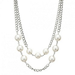 Red Herring - Contemporary pearl double row necklace