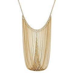 Red Herring - Statement crystal drop looped chain necklace