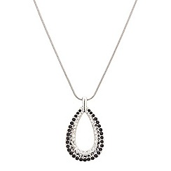 Red Herring - Jet embellished teardrop necklace