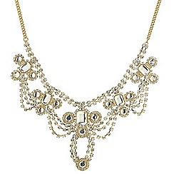 Red Herring - Online exclusive vintage style diamante looped necklace