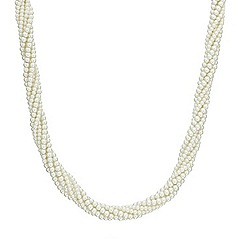 Red Herring - Cream pearl twist necklace