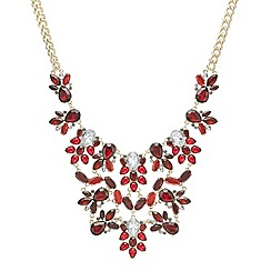 Red Herring - Red crystal statement necklace