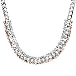 Red Herring - Crystal and rope collar necklace