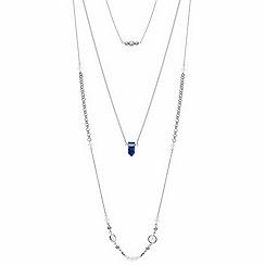 Red Herring - Multi row semi precious style stone long necklace