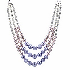 Red Herring - Multi row ombre pearl necklace