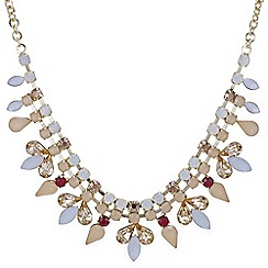 Red Herring - Peach diamante necklace