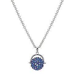 Red Herring - Blue crystal starburst spinning necklace
