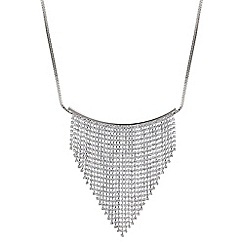 Red Herring - Silver diamante shower necklace