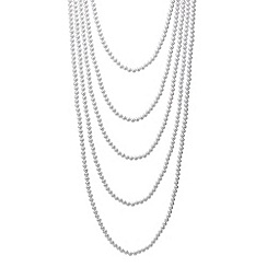 Red Herring - Cascading pearl multirow long necklace