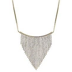 Red Herring - Gold diamante shower necklace