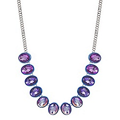 Red Herring - Tonal purple crystal oval allway necklace