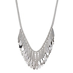 Red Herring - Silver teardrop cluster necklace