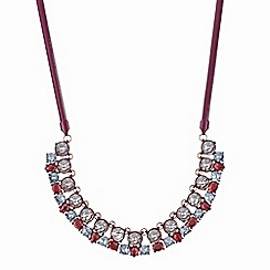 Red Herring - Red crystal statement allway necklace