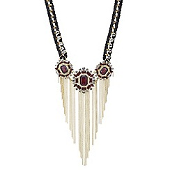 Red Herring - Red crystal opulent statement necklace