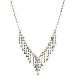 Red Herring - Gold crystal droplet necklace