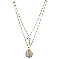 Red Herring - Multi tone pave circle necklace