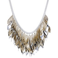 Red Herring - Multi tone leaf shower necklace