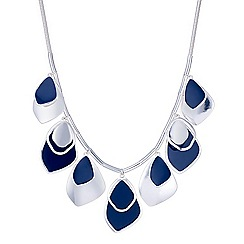 Red Herring - Blue layered droplet necklace