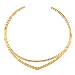 Red Herring - Gold two row choker necklace
