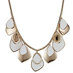 Red Herring - Rose gold layered droplet necklace