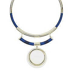 Red Herring - Gold shell disc torque necklace