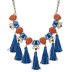 Red Herring - Tassel statement necklace