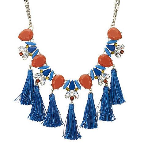 Red Herring - Tassel statement necklace