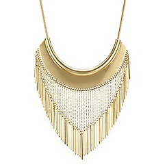 Red Herring - Gold chain drop torque necklace