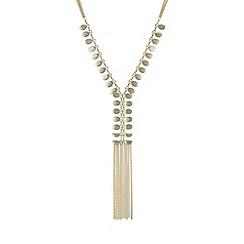 Red Herring - Gold ladder necklace