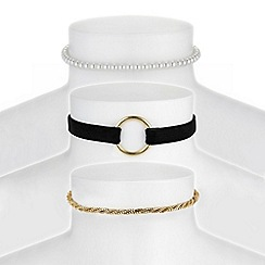 Red Herring - Gold choker necklace set