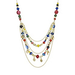 Red Herring - Multi colour beaded necklace